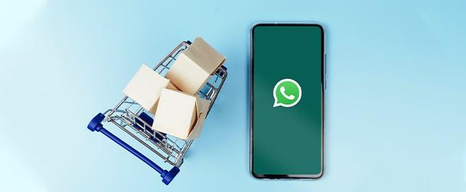 carrello spesa e smartphone
