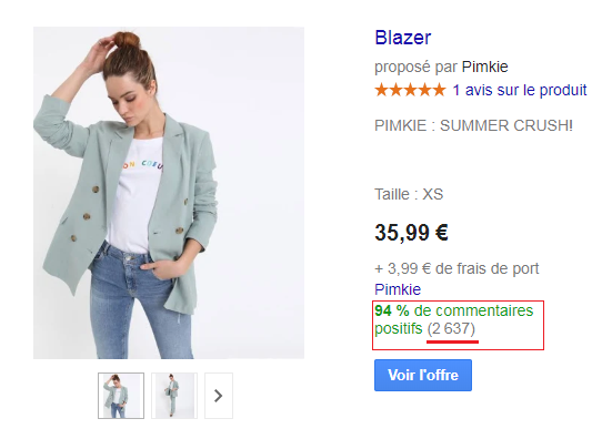 pimkie google shopping ads