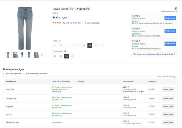 comparaison vendeurs google shopping2