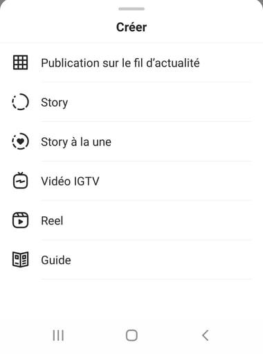 créer un guide instagram