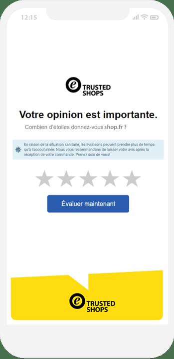collecte avis clients covid message fr