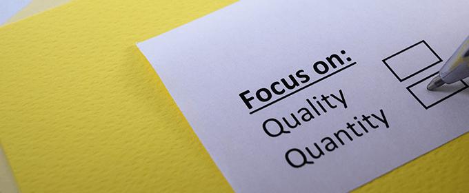 qualité vs quantité