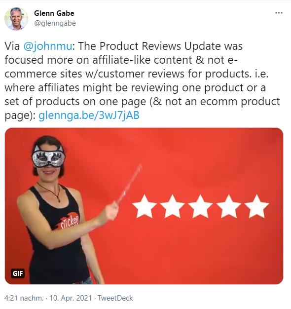 Twitter Product Reviews Update Glenn Gabe
