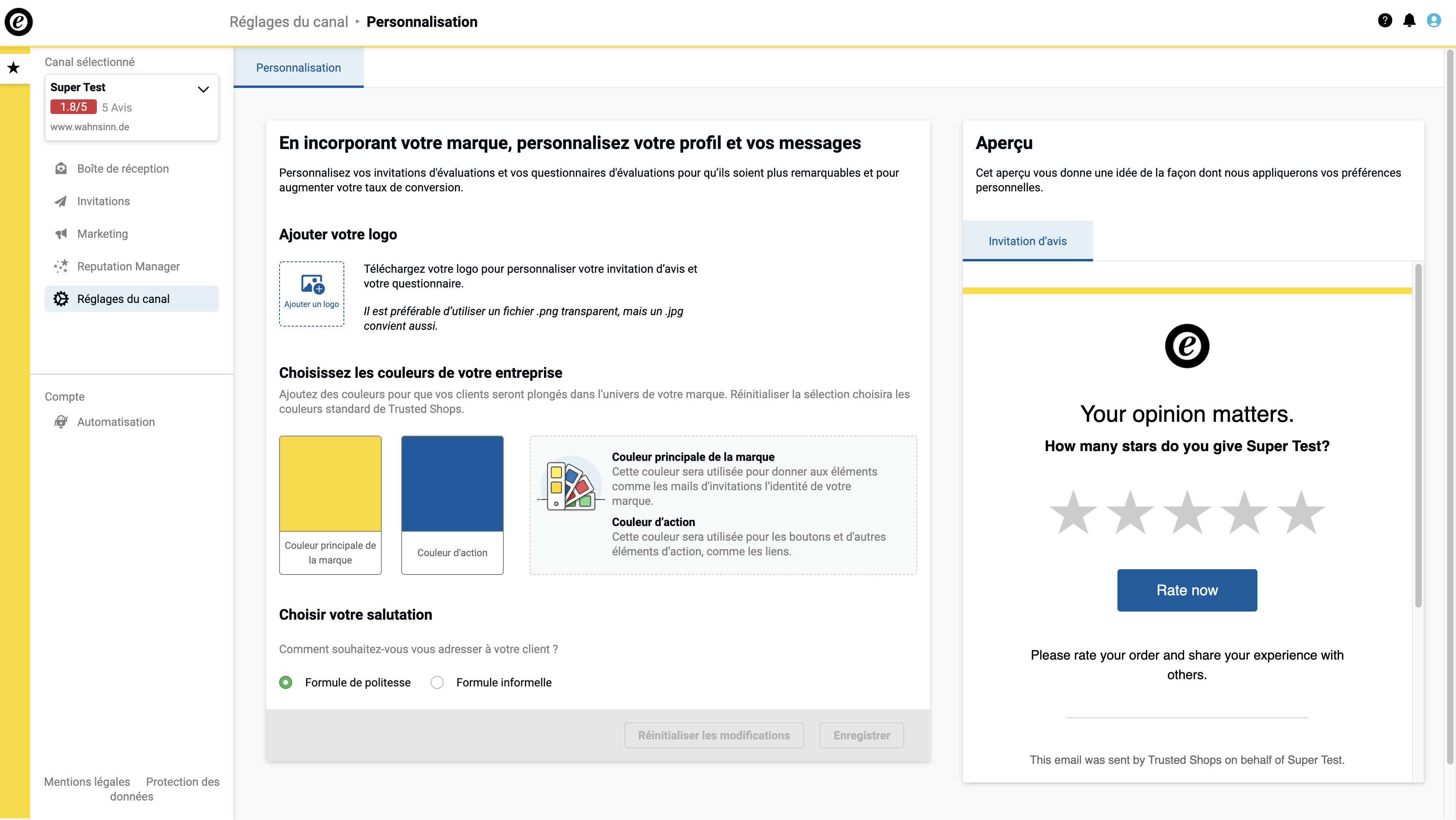 FR_Screenshot Personalisation