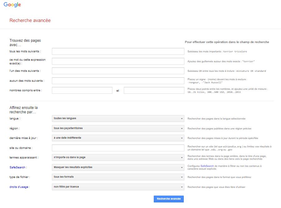 Google Advanced Search_FR