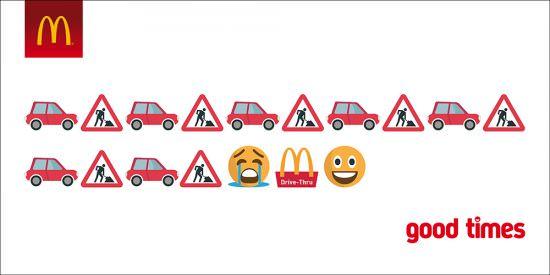 Integrar emojis en los anuncios ejemplo McDonalds