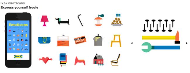 pictograma con emojis ejemplo Ikea
